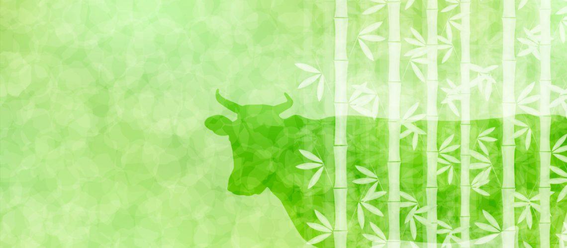 Cow,New,Year,Card,Zodiac,Background
